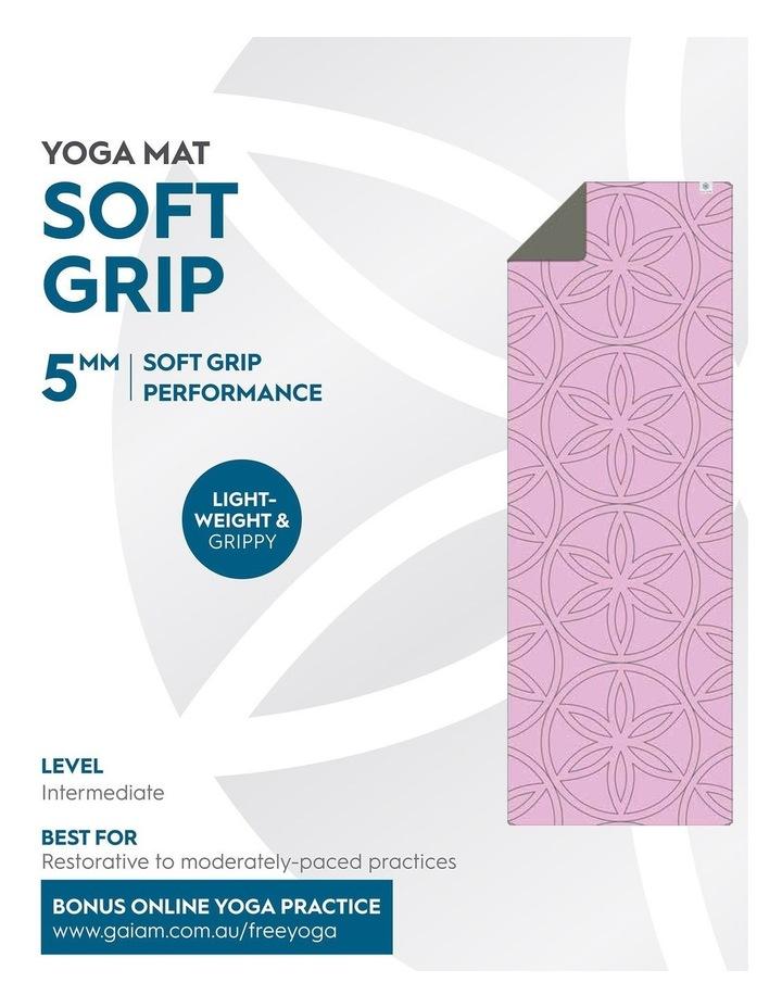 Soft Grip 5mm Printed Yoga Mat in Light Purple image 5