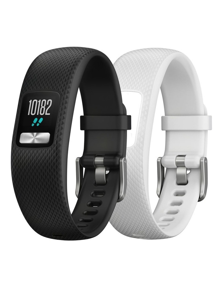 Vivofit 4 Fitness Tracker - Black/White 2pc Bundle (Sml/Med) image 1