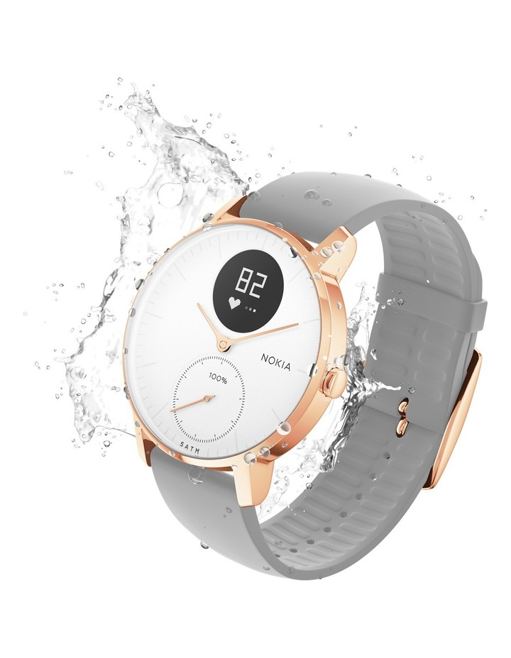 Withings / Nokia Steel HR Smart Watch - 36mm, Rose Gold/Grey image 3