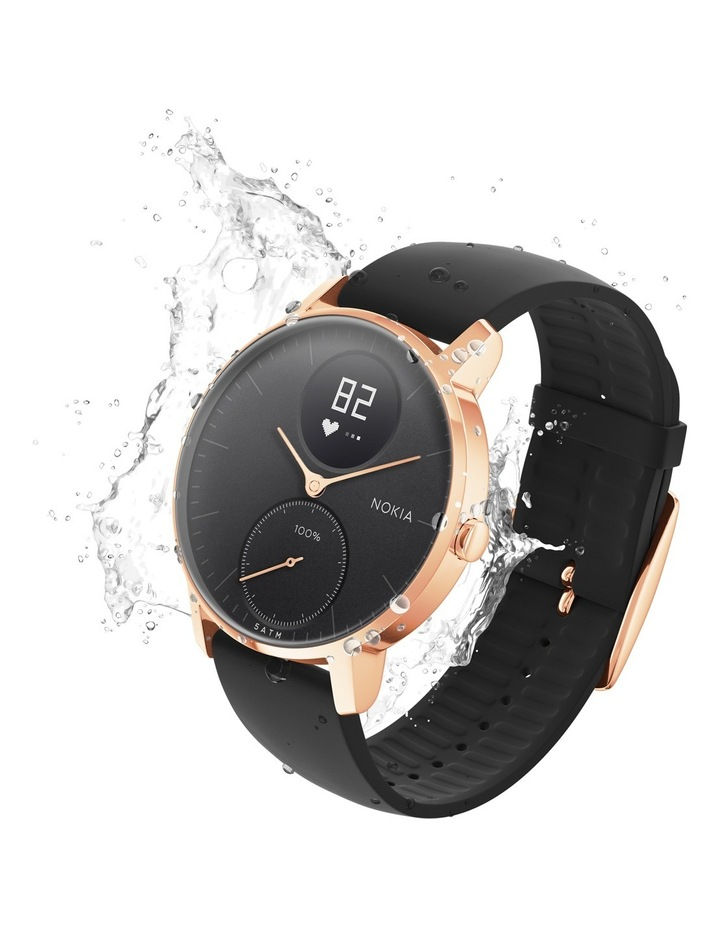 Steel HR Smart Watch - 36mm, Rose Gold/Black image 3
