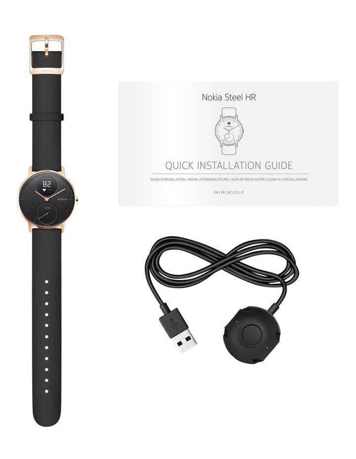 Steel HR Smart Watch - 36mm, Rose Gold/Black image 7
