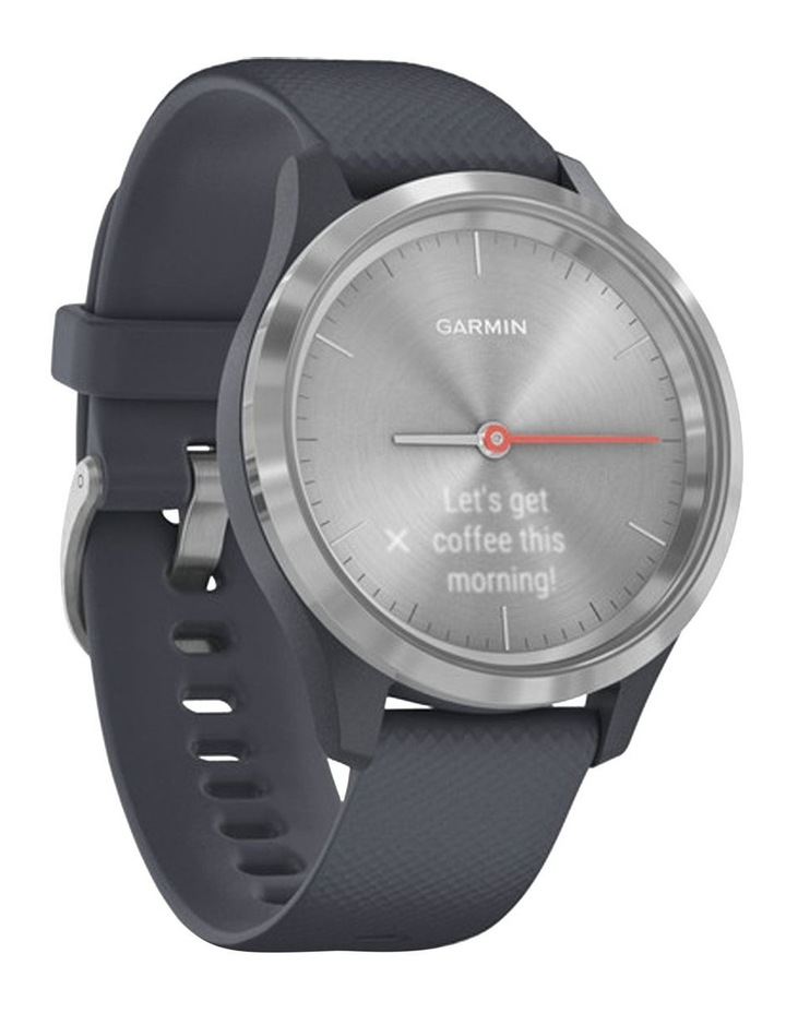 Vivomove 3s 39mm Smart Watch Silv/Blu Silicone band image 2
