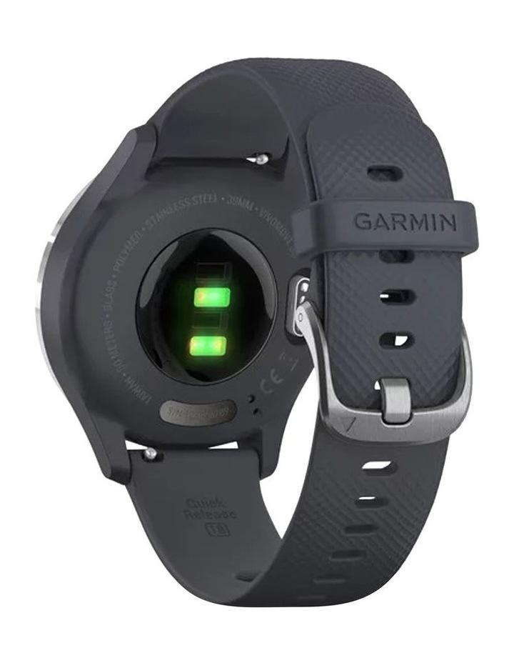 Vivomove 3s 39mm Smart Watch Silv/Blu Silicone band image 5