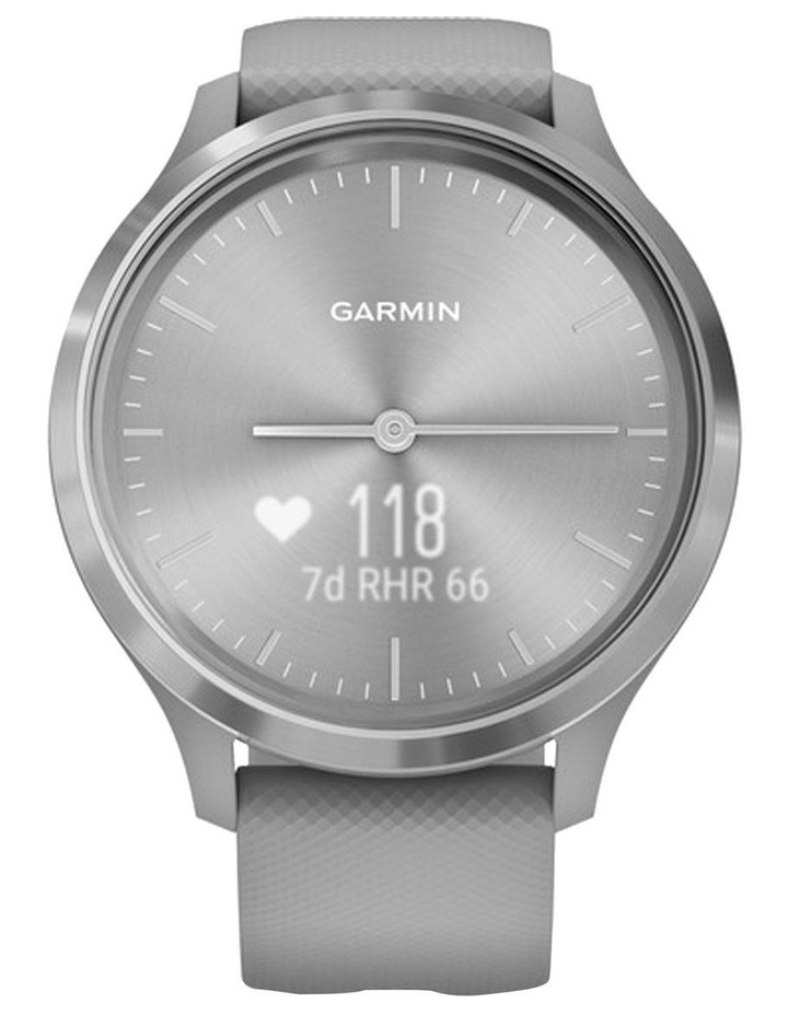 Garmin Vivomove 3 44mm Smart Watch Gry/Silv Silicone band image 3
