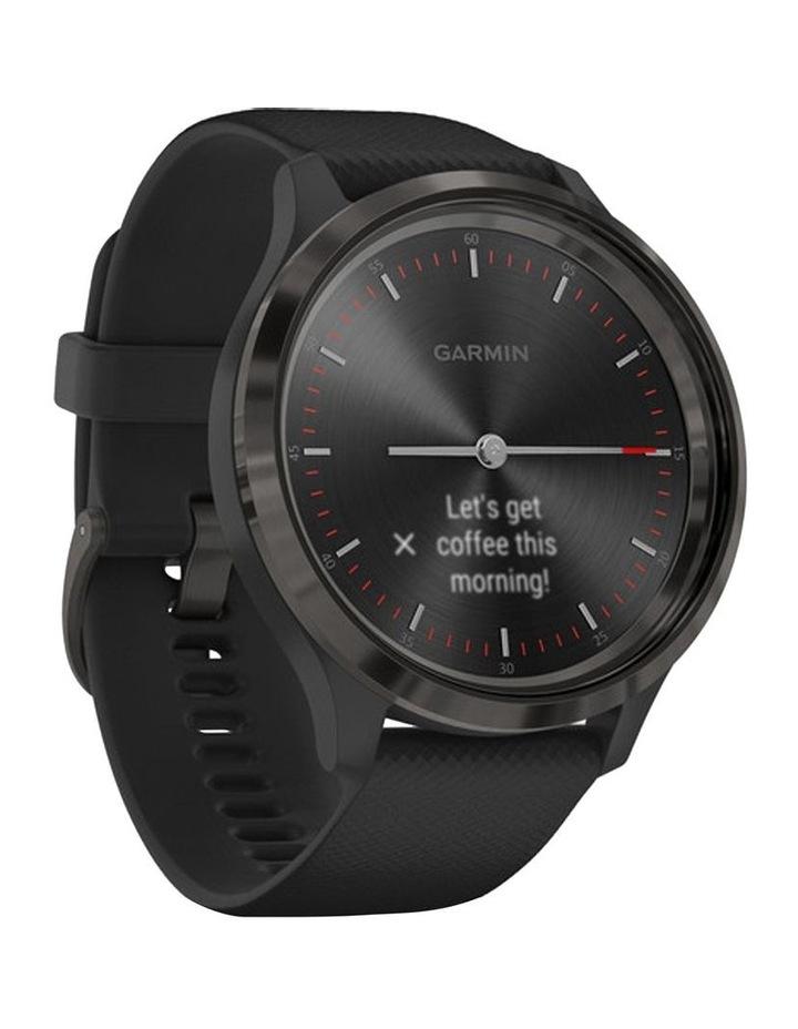 Vivomove 3 44mm Smart Watch Blk Silicone band image 2
