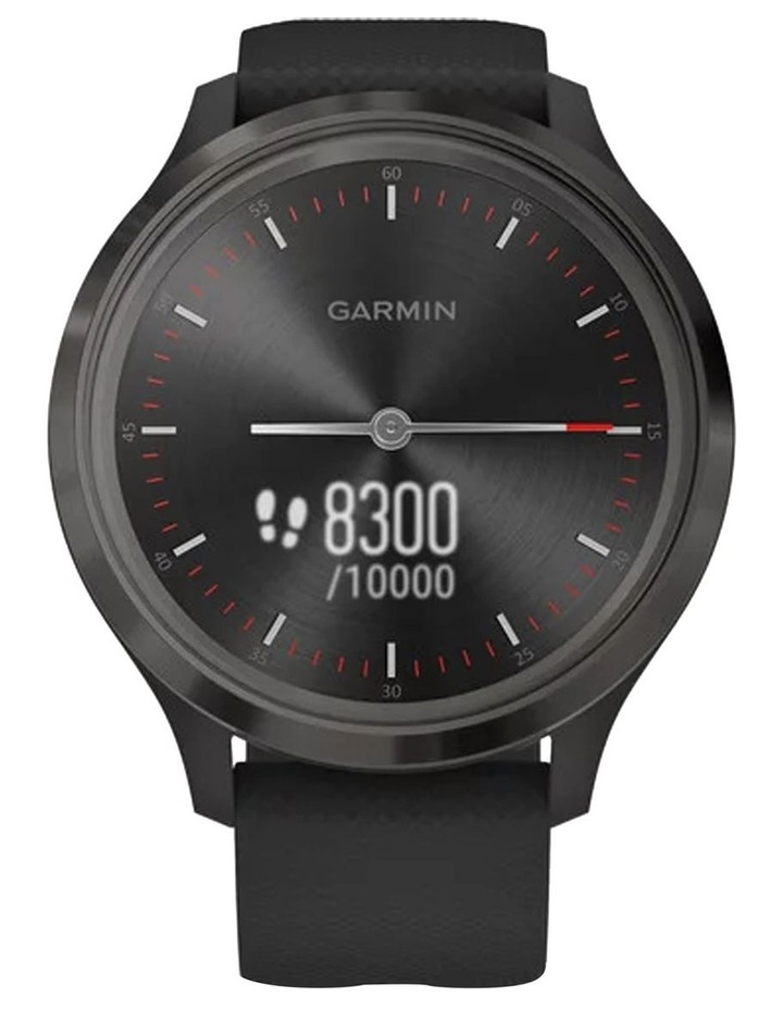 Vivomove 3 44mm Smart Watch Blk Silicone band image 4