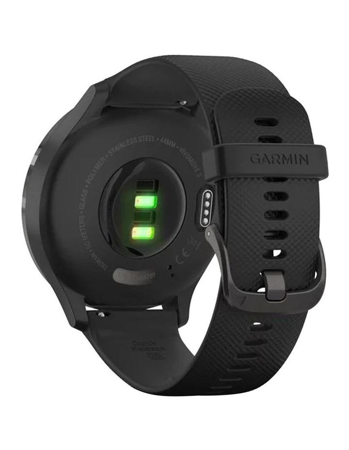 Vivomove 3 44mm Smart Watch Blk Silicone band image 5