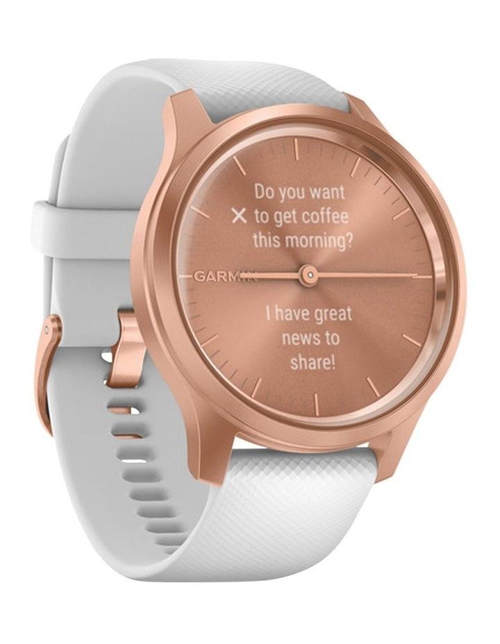 Vivomove Style 42mm Smart Watch RseGld/Wht  Silicone band image 2