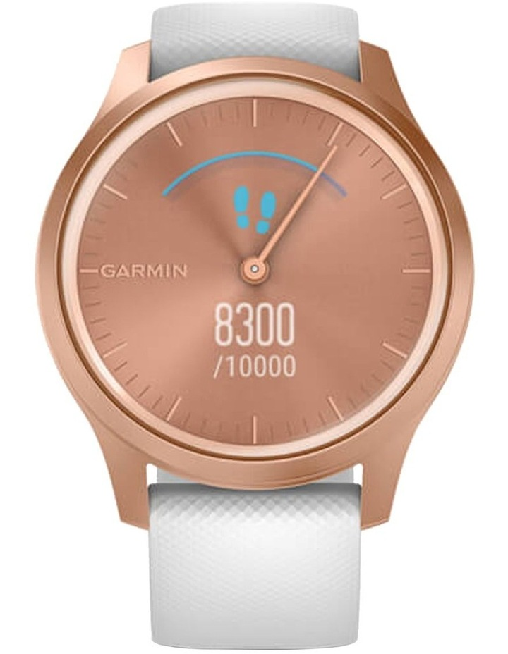Vivomove Style 42mm Smart Watch RseGld/Wht  Silicone band image 3