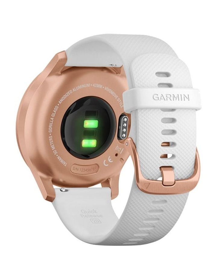 Vivomove Style 42mm Smart Watch RseGld/Wht  Silicone band image 5