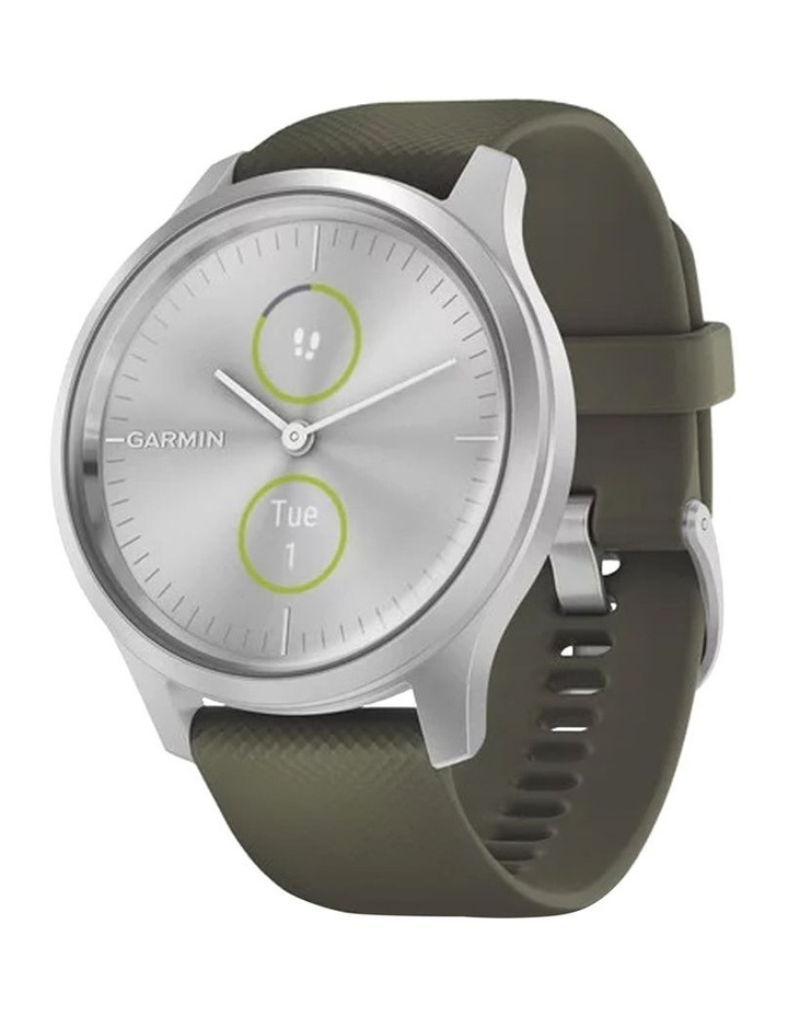 Vivomove Style 42mm Smart Watch Silv/Grn Silicone band image 1
