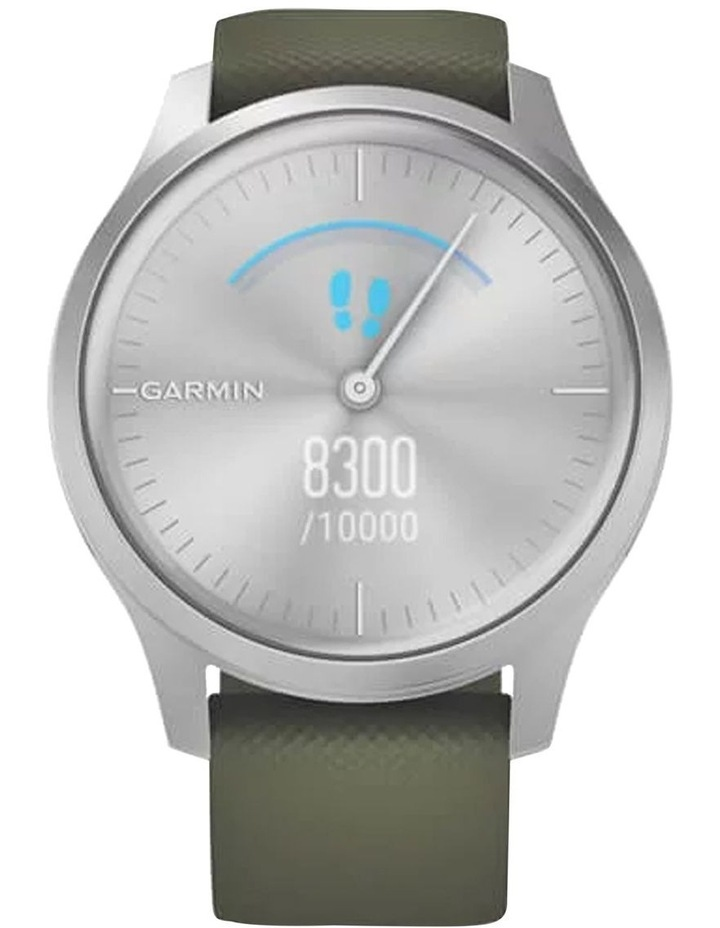 Vivomove Style 42mm Smart Watch Silv/Grn Silicone band image 3