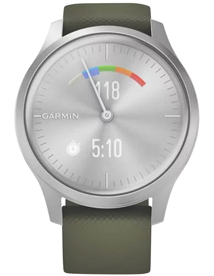 Vivomove Style 42mm Smart Watch Silv/Grn Silicone band image 4