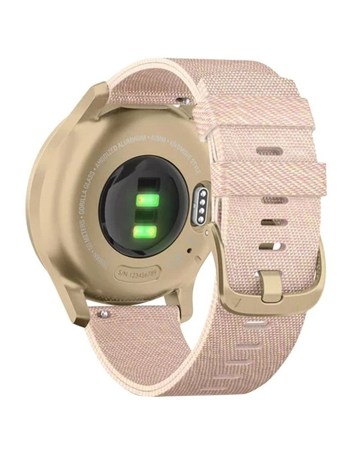 Vivomove Style 42mm Smart Watch Cha/Rse, Fabric band image 5