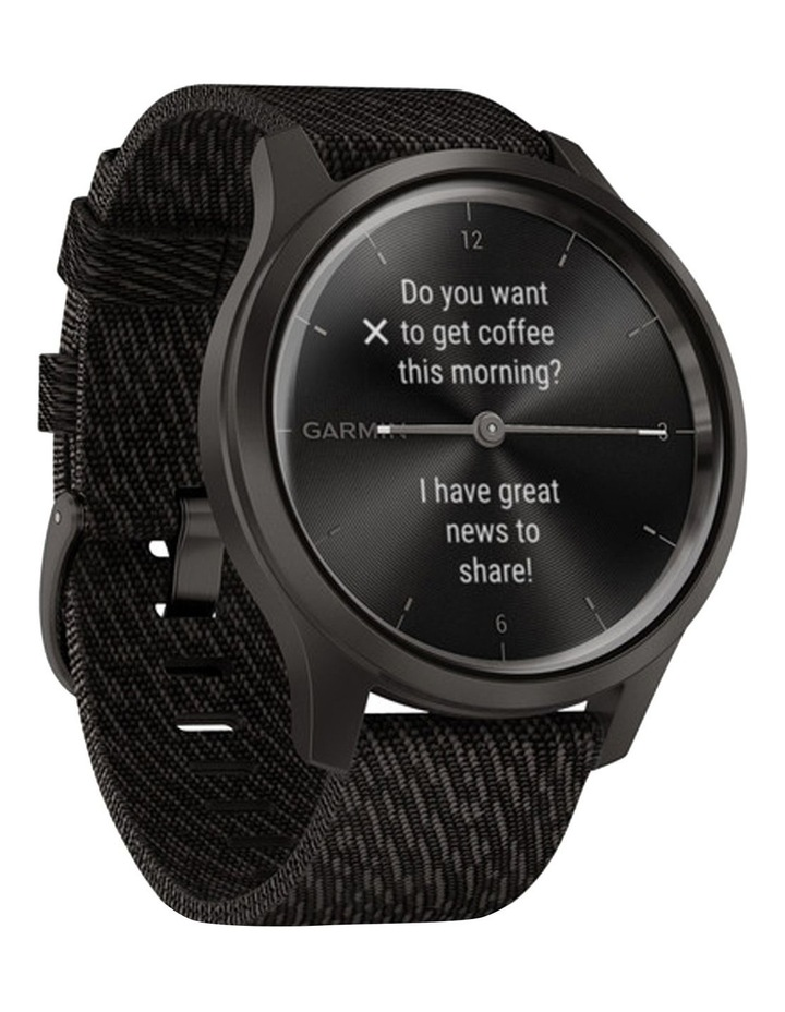 Vivomove Style Hybrid Smartwatch 42mm In Black With Fabric Band image 2