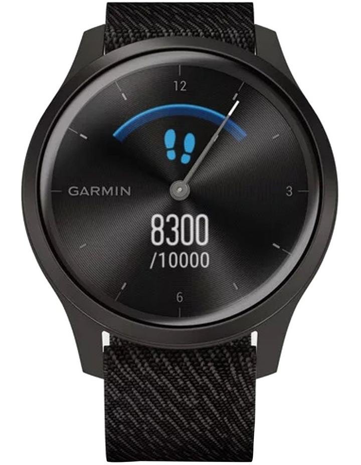 Vivomove Style Hybrid Smartwatch 42mm In Black With Fabric Band image 3