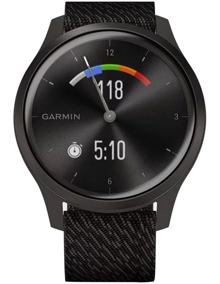 Vivomove Style Hybrid Smartwatch 42mm In Black With Fabric Band image 4