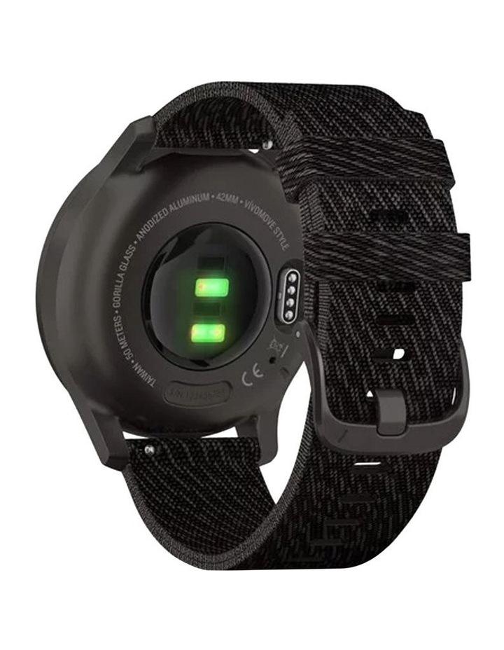 Vivomove Style 42mm Smart Watch Gun/Gry Fabric band image 5