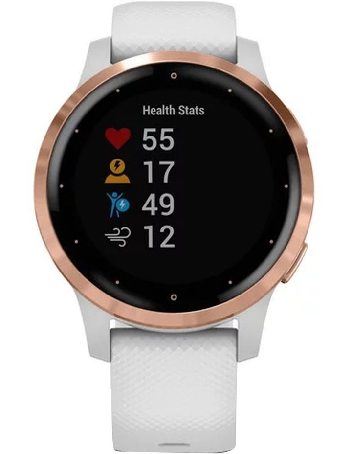 Vivoactive 4s Smart Watch Wht/RseGld image 2