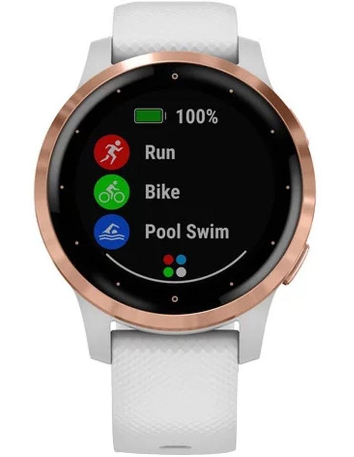 Vivoactive 4s Smart Watch Wht/RseGld image 3