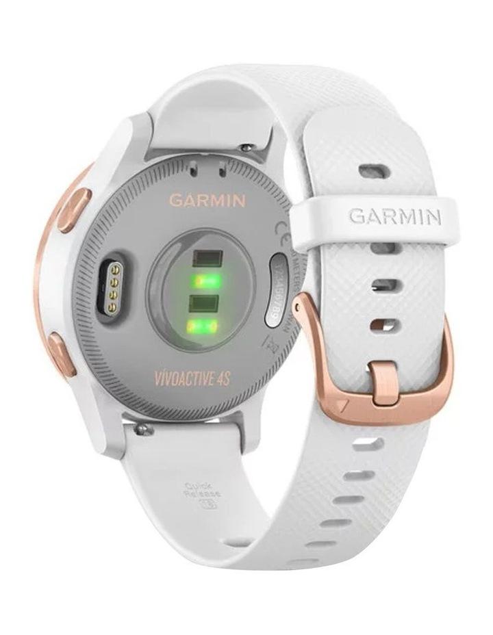 Vivoactive 4s Smart Watch Wht/RseGld image 4