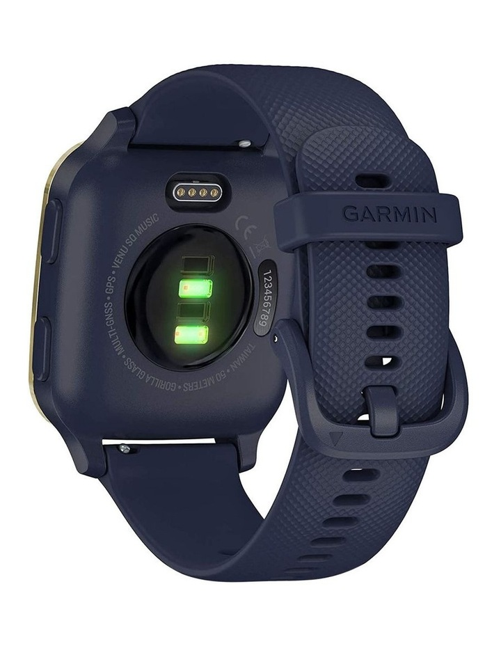 Venu Sq Smartwatch Music Edition Navy/Light Gold image 7