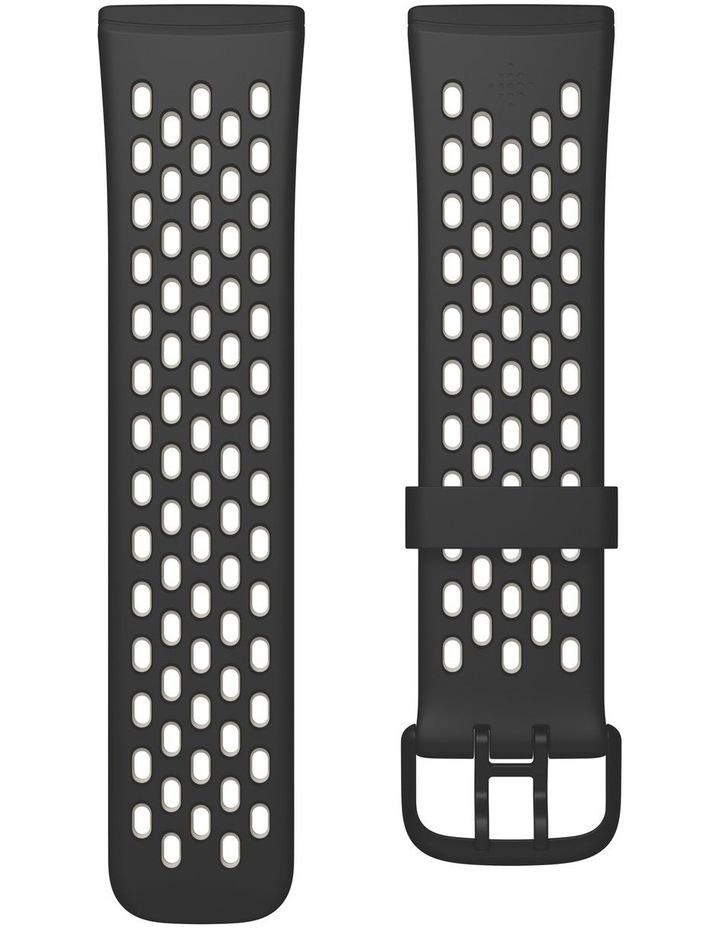 Sense & Versa 3 Small Sport Band in Black/White image 2