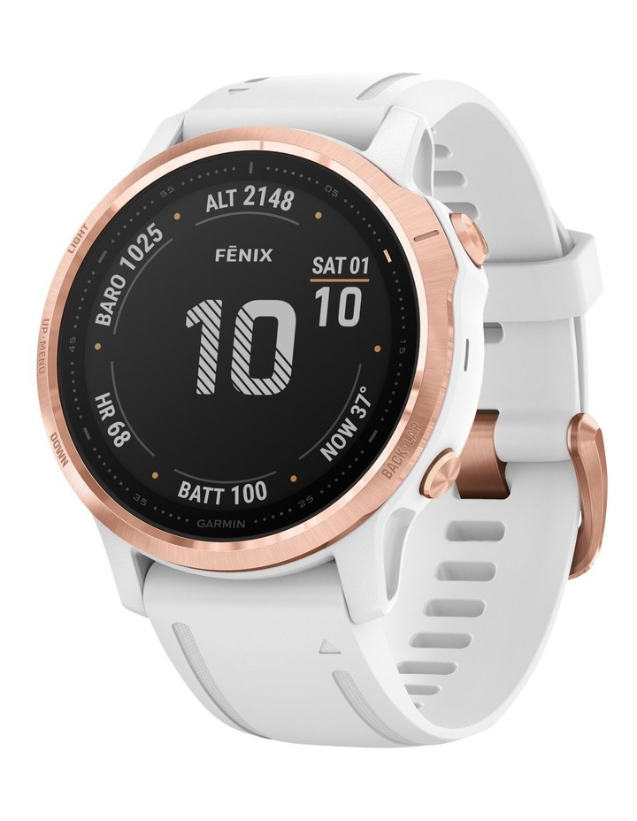 Fenix 6s Pro Edition - (42mm) Fitness Smartwatch - Rose Gold/White image 1