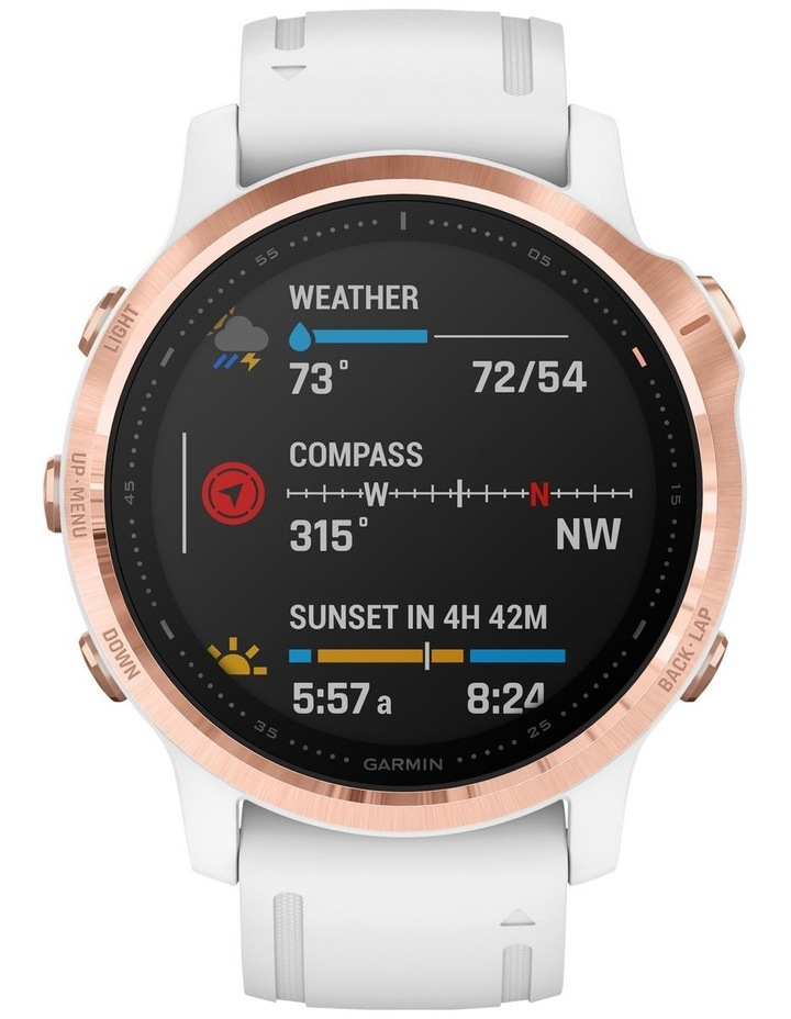 Fenix 6s Pro Edition - (42mm) Fitness Smartwatch - Rose Gold/White image 3