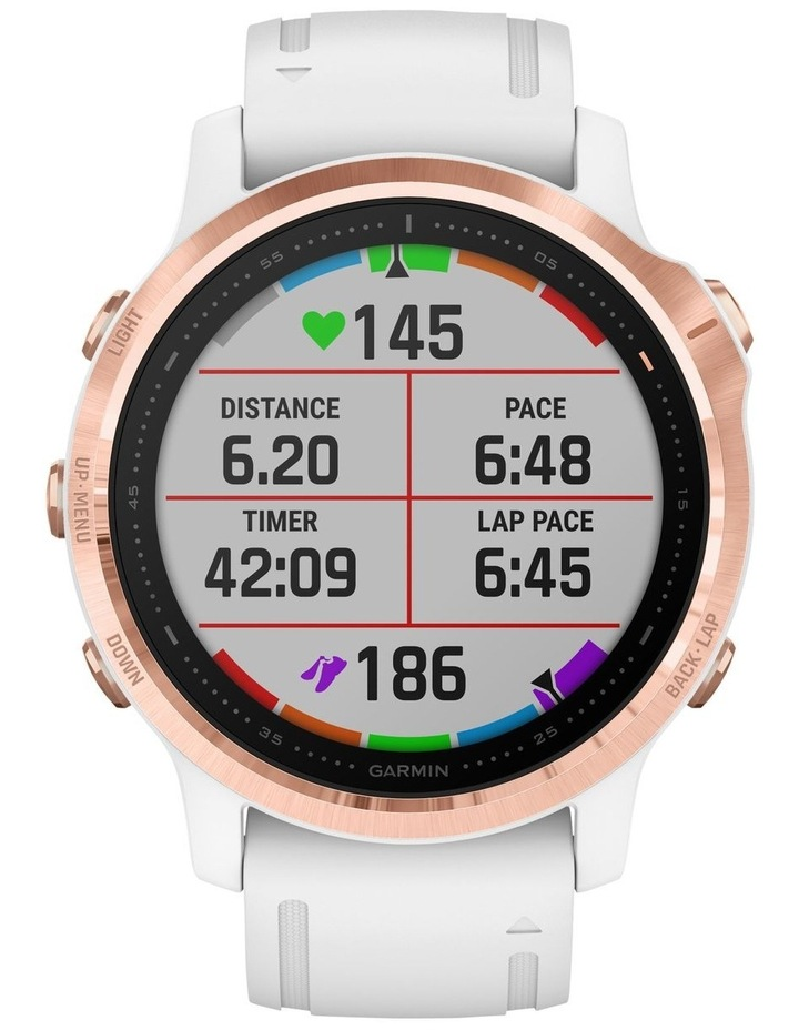 Fenix 6s Pro Edition - (42mm) Fitness Smartwatch - Rose Gold/White image 4