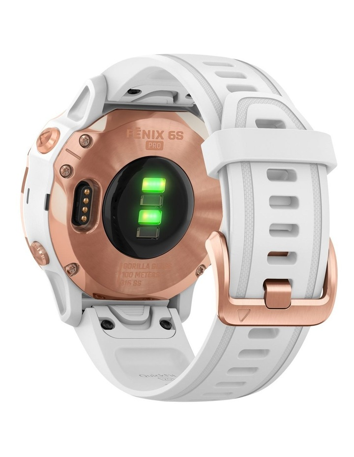 Fenix 6s Pro Edition - (42mm) Fitness Smartwatch - Rose Gold/White image 6
