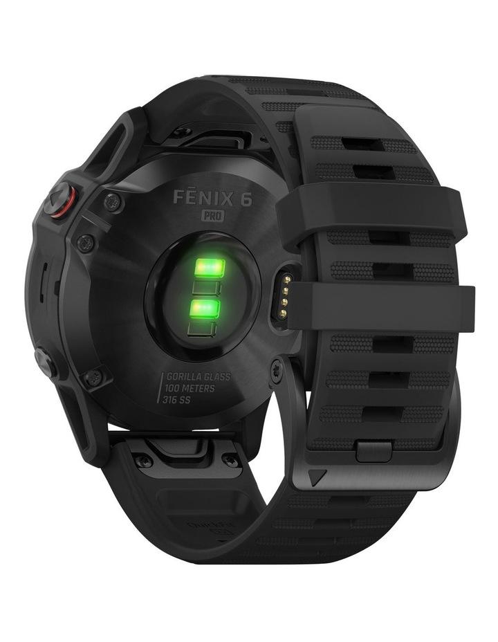 Fenix 6 (47mm) - Pro Edition - Black/Black Silicone Band image 6