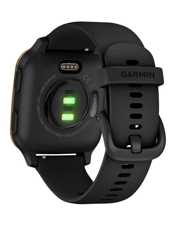 Venu Sq Smartwatch - Music Edition - RseGld/Black image 6
