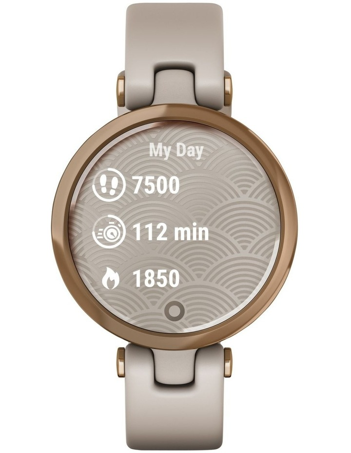 Lily - Sport Edition - RoseGold/LightSand Silicone Band image 2