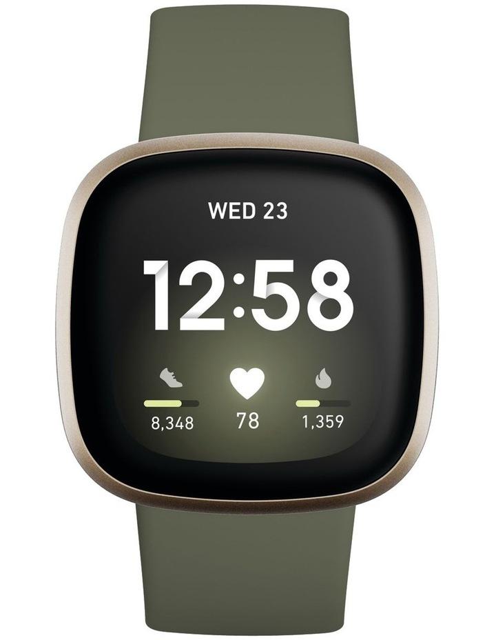 Versa 3 Smart Fitness Watch Olive/Soft Gold image 3