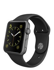 Apple Watch Sport 42mm Space Grey Aluminium case with Black band