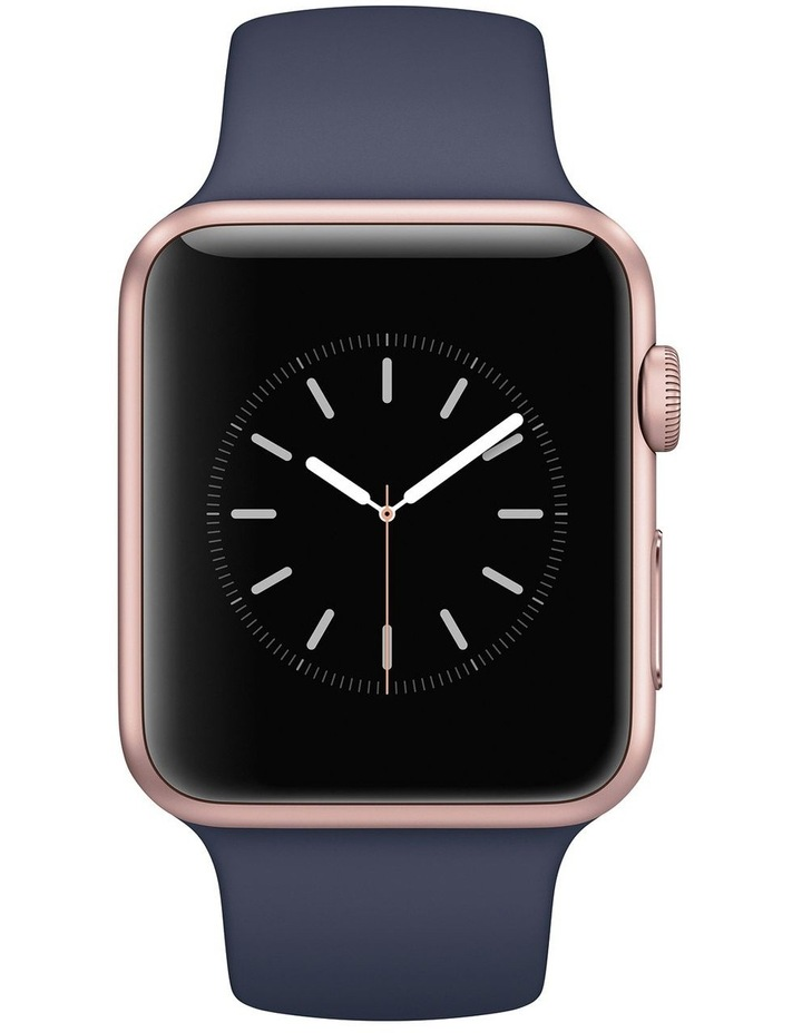 Apple watch series 2 42mm gold aluminum case with cocoa sport band