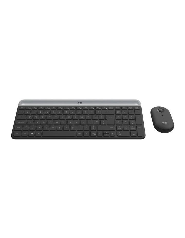 Logitech Slim Wireless Keyboard and Mouse Combo Graphite MK470 image 1