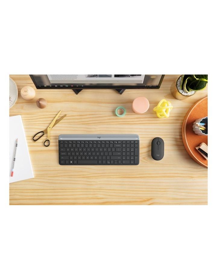Logitech Slim Wireless Keyboard and Mouse Combo Graphite MK470 image 4
