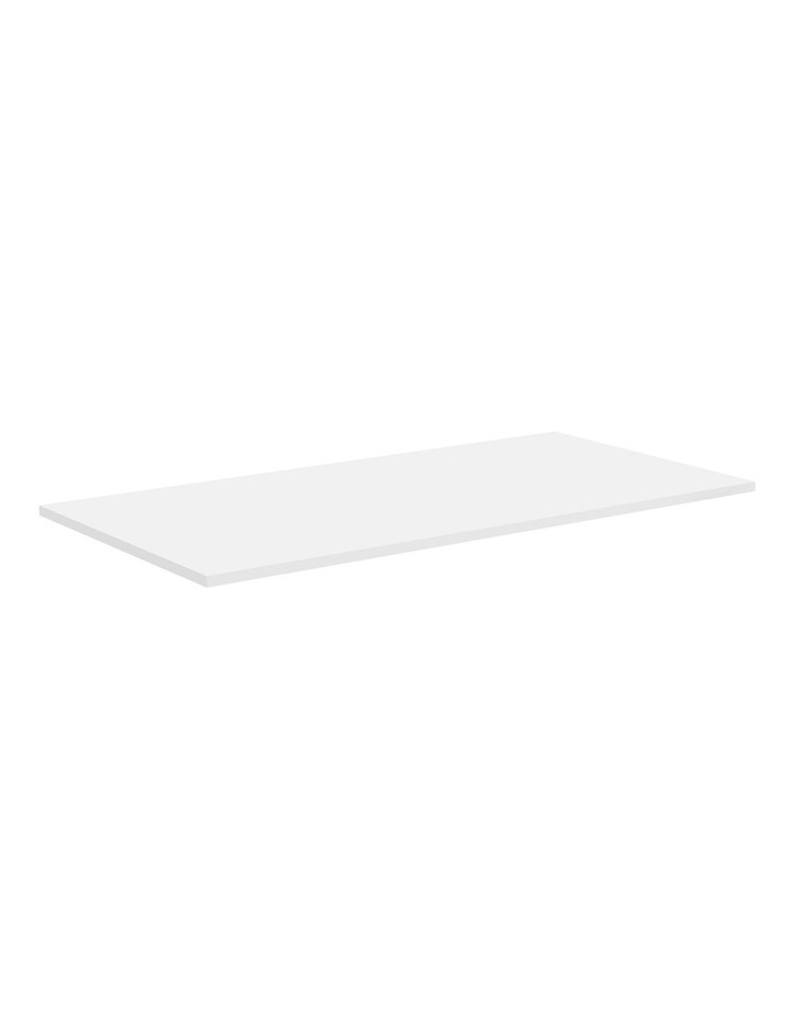 1500 x 750 x 25mm Standard Desktop White image 1