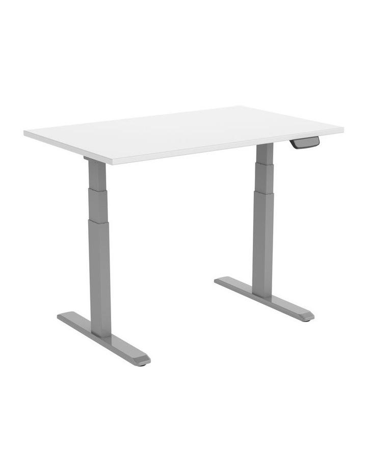 Electric Dual Motor Standard Desk Grey Frame Only image 1