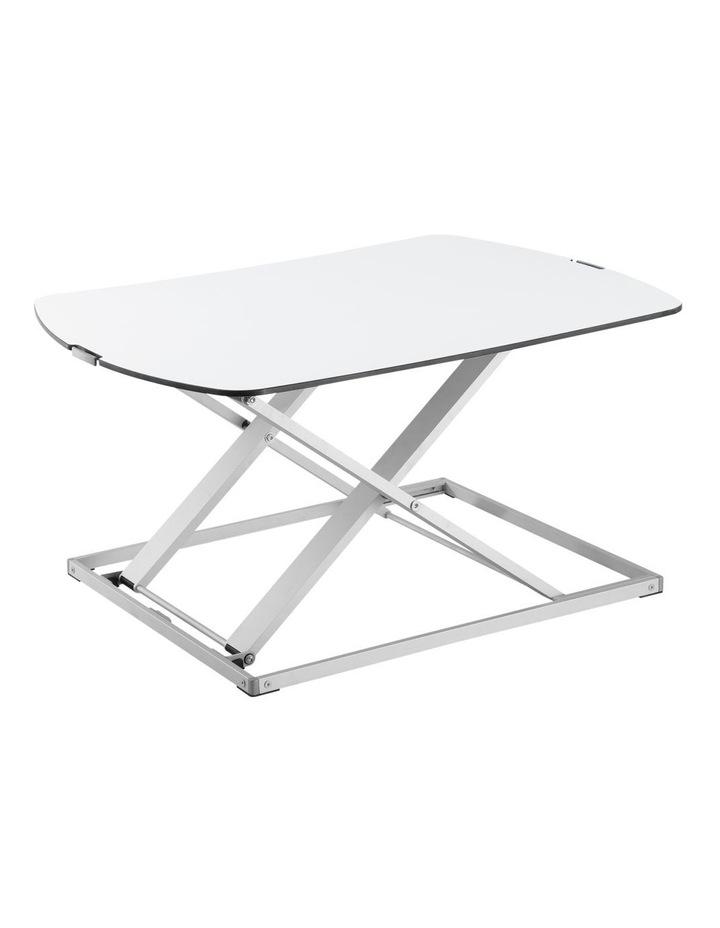 Ultra-Slim Height Adjustable Laptop/Monitor Riser White EDT-S07.1W image 1