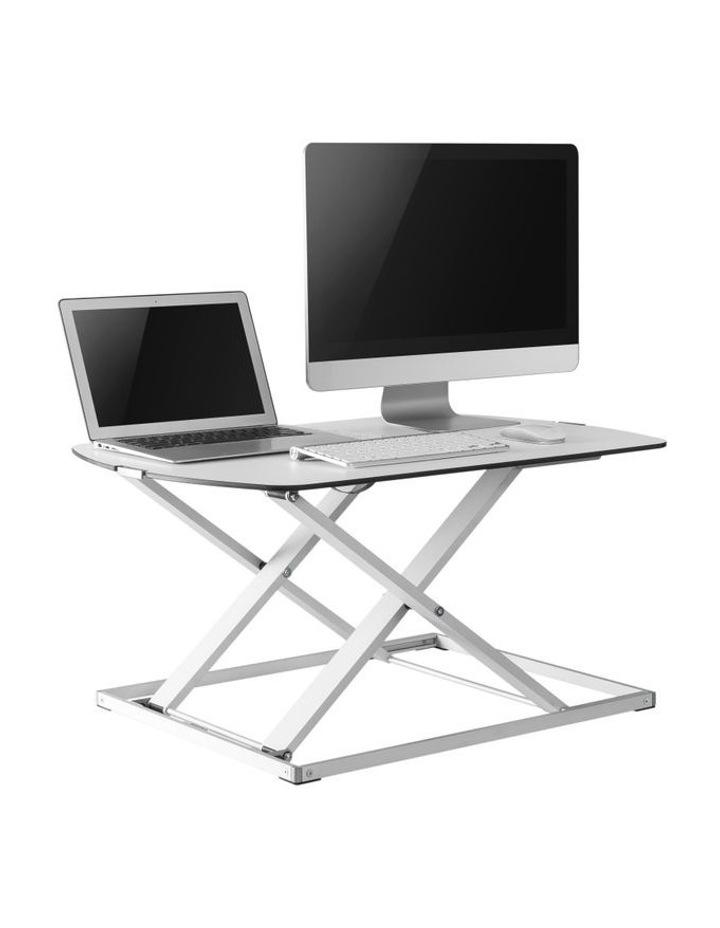 Ultra-Slim Height Adjustable Laptop/Monitor Riser White EDT-S07.1W image 3