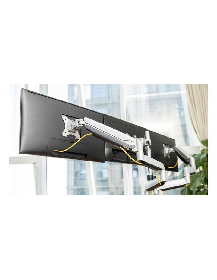 Gas Spring Triple Monitor Arm with USB Silver EMA10-C36U image 3