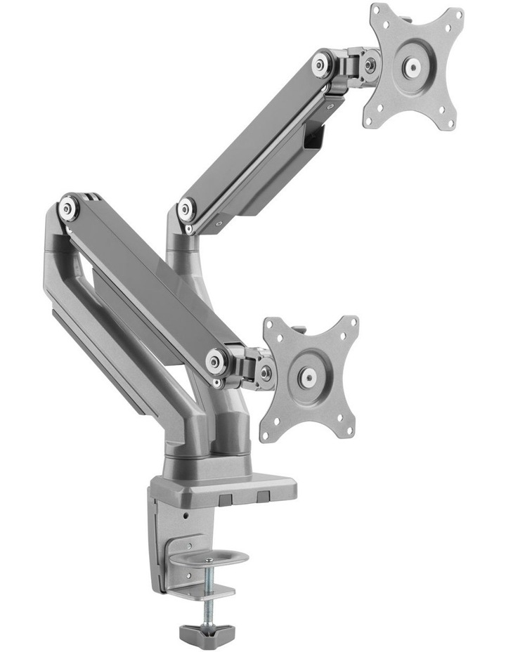 Mechnical Spring Dual Monitor Arm Silver EMA14-C24 image 1