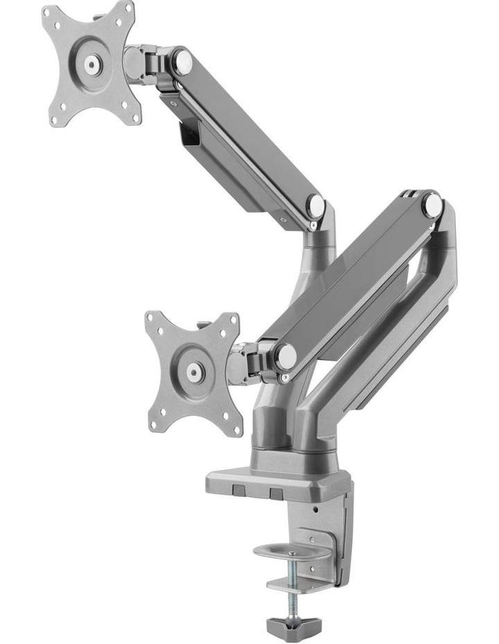 Mechnical Spring Dual Monitor Arm Silver EMA14-C24 image 3