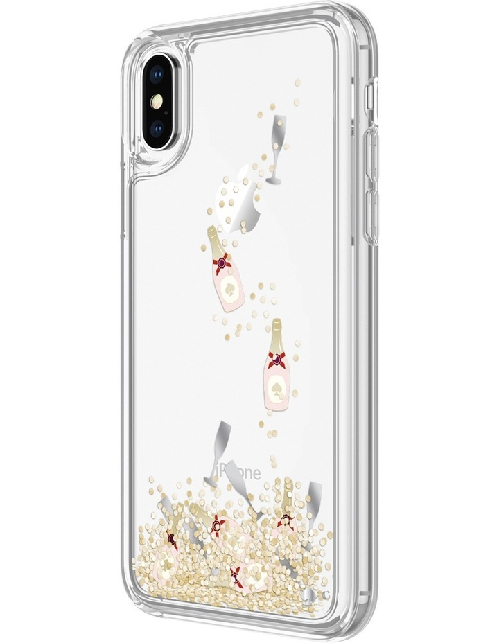Case for iPhone X - Liquid Glitter Champagne image 1