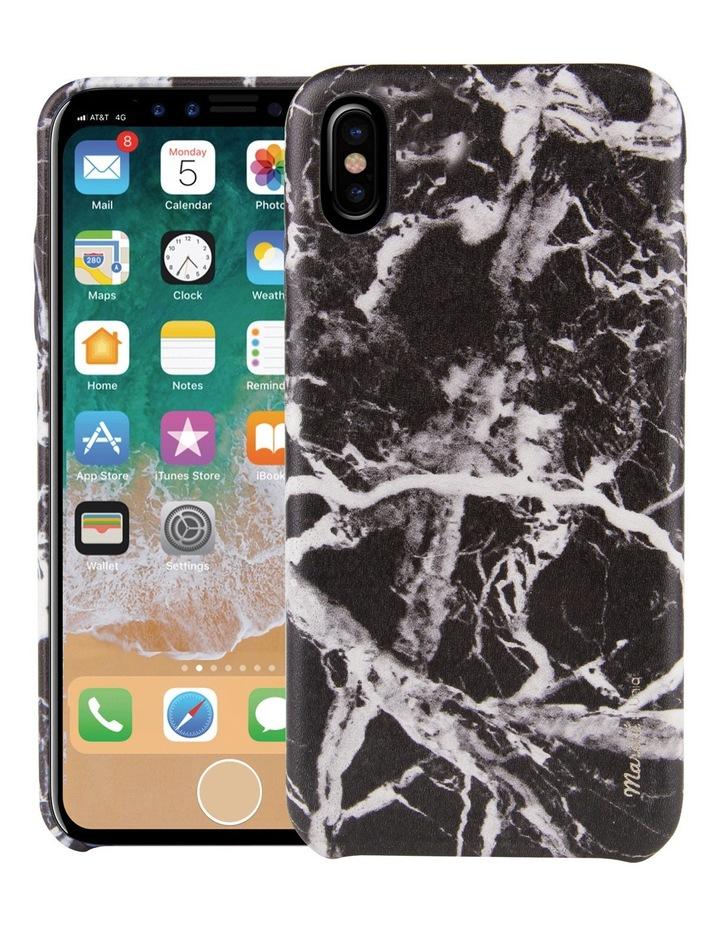 Marble Case for iPhone X - Noir / Black image 1