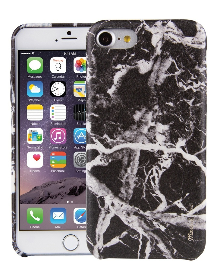 Marble Case for iPhone 8 - Noir / Black image 1
