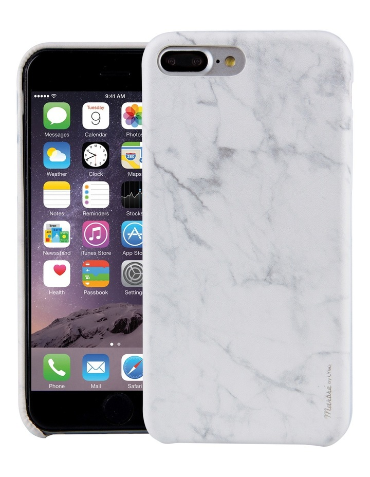 Marble Case for iPhone 8 Plus - Blanc / White image 1